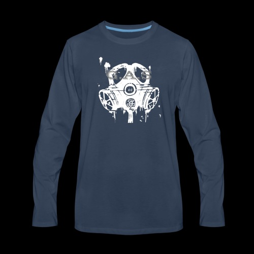 Big White Gas Mask 1 - Men's Premium Long Sleeve T-Shirt