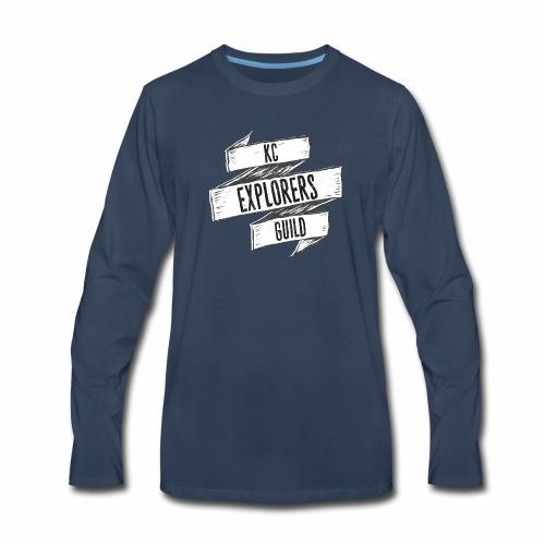 KCEG 3 Ribbon Logo - Men's Premium Long Sleeve T-Shirt