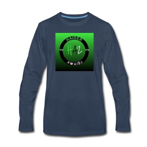 Haider Awais Logo Green - Men's Premium Long Sleeve T-Shirt