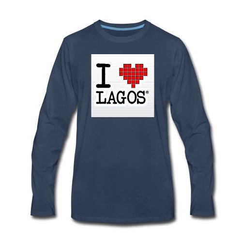 I LOVE LAGOS - Men's Premium Long Sleeve T-Shirt