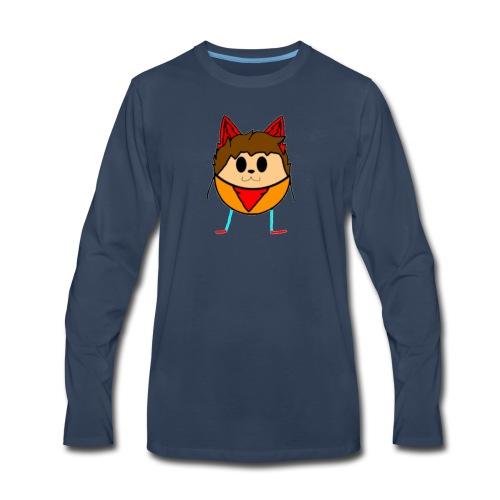 I Love Fried chicken - Men's Premium Long Sleeve T-Shirt