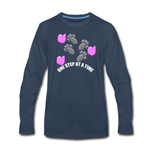 One step at a time logo merchandise! - Men's Premium Long Sleeve T-Shirt