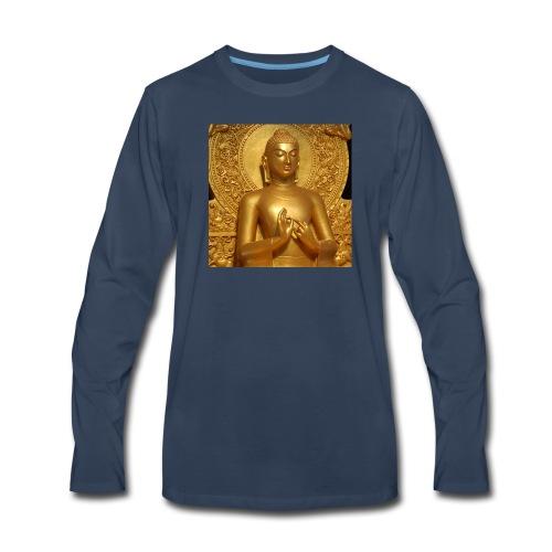 golden buddha - Men's Premium Long Sleeve T-Shirt