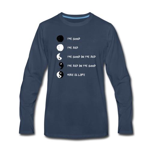 Ying Yang Life Balance - Men's Premium Long Sleeve T-Shirt