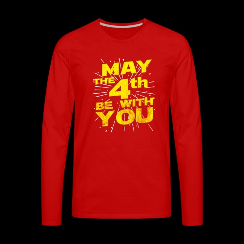 May The 4th Be With You Distressed - Men's Premium Long Sleeve T-Shirt
