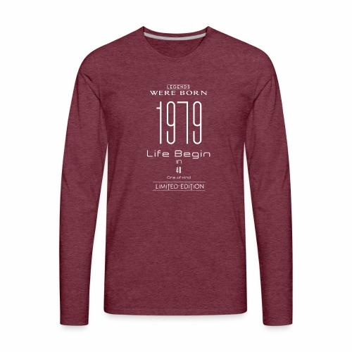 TSDesign 1979 T Shirt 40 Years Old 40th Birthday - Men's Premium Long Sleeve T-Shirt