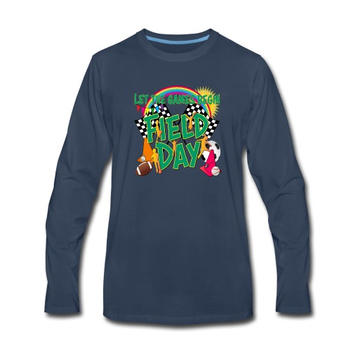 Field Day Games for SCHOOL - Men's Premium Long Sleeve T-Shirt