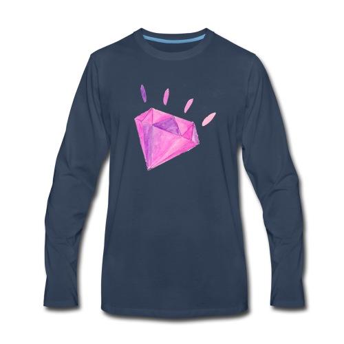 Watercolor Diamond - Men's Premium Long Sleeve T-Shirt