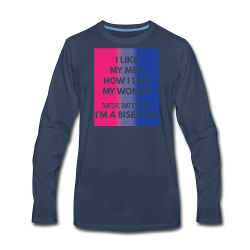Bisexual - Bi - LGBT - Gay Pride - Gift - Men's Premium Long Sleeve T-Shirt