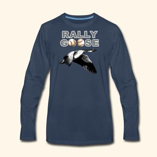 Detroit Rally Goose Baseball Lucky Charm Design - Men's Premium Long Sleeve T-Shirt