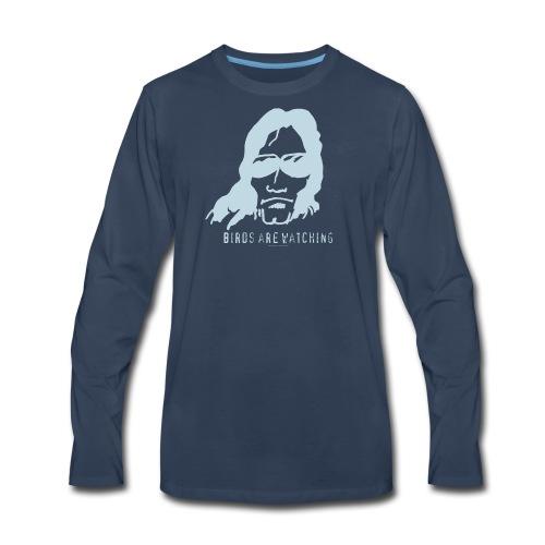 Birds are watching - Men's Premium Long Sleeve T-Shirt