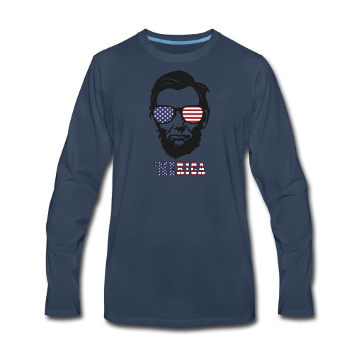 4th of july Abe lincoln t-shirts - Men's Premium Long Sleeve T-Shirt