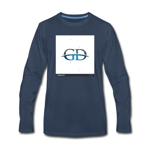 stock vector gd initial company blue swoosh logo 3 - Men's Premium Long Sleeve T-Shirt
