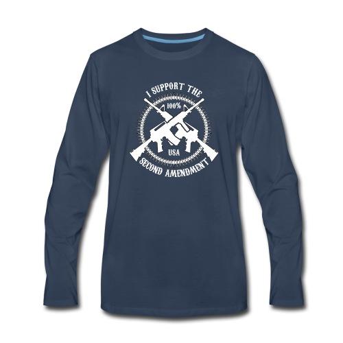 I Support The Second Amendment - Men's Premium Long Sleeve T-Shirt
