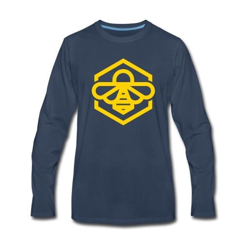 bee symbol orange - Men's Premium Long Sleeve T-Shirt