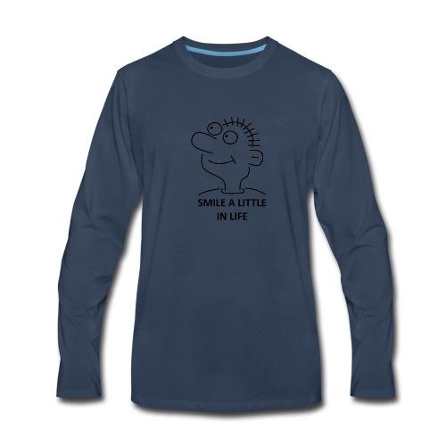 SMILE A LITTLE IN LIFE - Men's Premium Long Sleeve T-Shirt