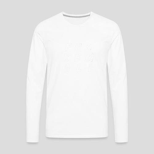 FUCKEMALL White Logo - Men's Premium Long Sleeve T-Shirt