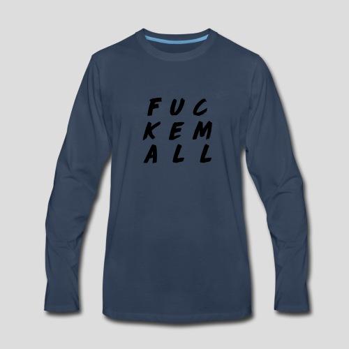 FUCKEMALL Black Logo - Men's Premium Long Sleeve T-Shirt