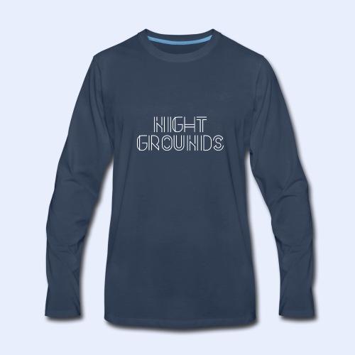 White NightGrounds Title - Men's Premium Long Sleeve T-Shirt