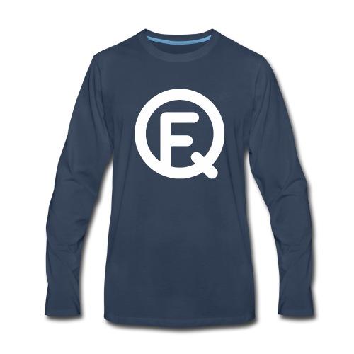 Fq White Logo - Men's Premium Long Sleeve T-Shirt