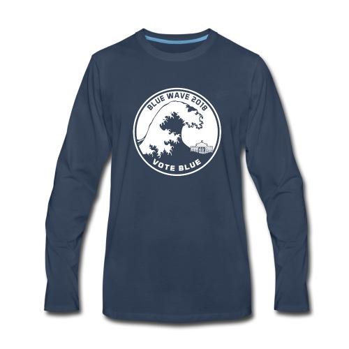 Blue Wave 2018 Vote Blue - Men's Premium Long Sleeve T-Shirt