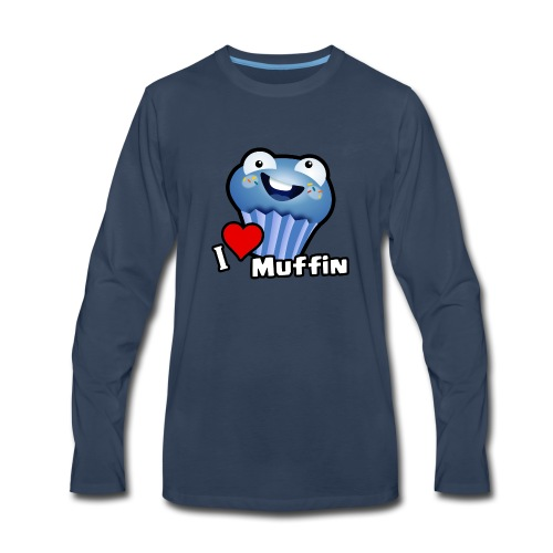 I Love Muffin - Men's Premium Long Sleeve T-Shirt
