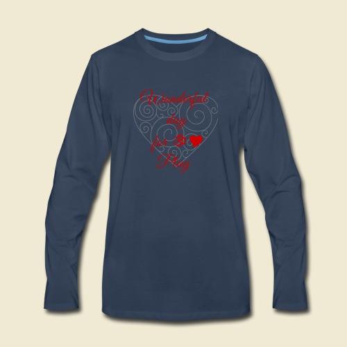 108-lSa Inspi-Shirt-85.b ... for OM-Love Play - Men's Premium Long Sleeve T-Shirt