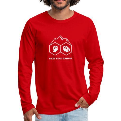 Pikes Peak Gamers Logo (Transparent White) - Men's Premium Long Sleeve T-Shirt