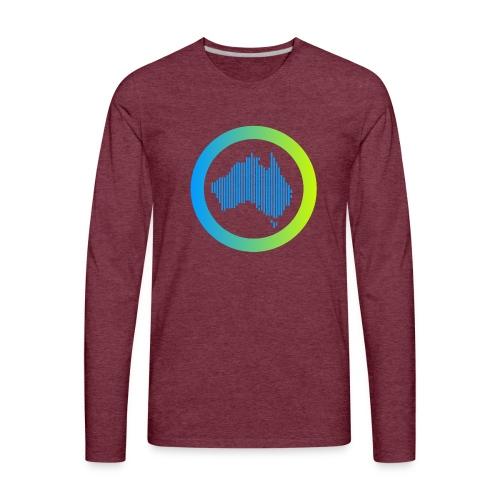 Gradient Symbol Only - Men's Premium Long Sleeve T-Shirt