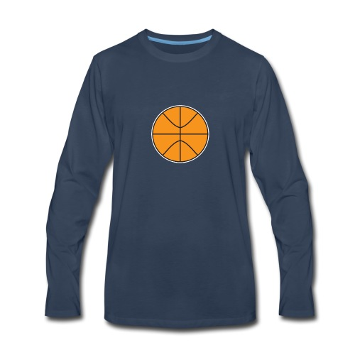 Plain basketball - Men's Premium Long Sleeve T-Shirt