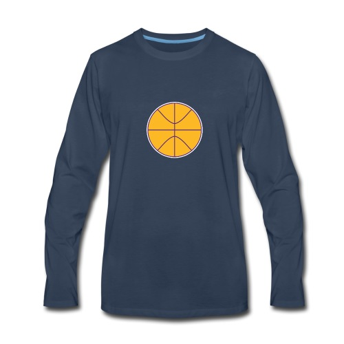 Basketball purple and gold - Men's Premium Long Sleeve T-Shirt