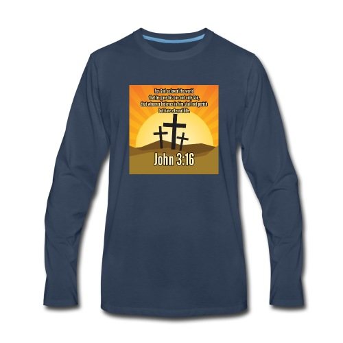 John 3:16 - the most widely quoted Bible verses? - Men's Premium Long Sleeve T-Shirt