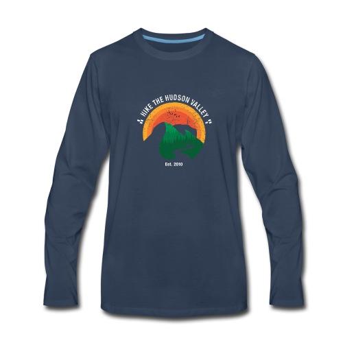 Hike the Hudson Valley (Vintage, dark bkgrnd) - Men's Premium Long Sleeve T-Shirt