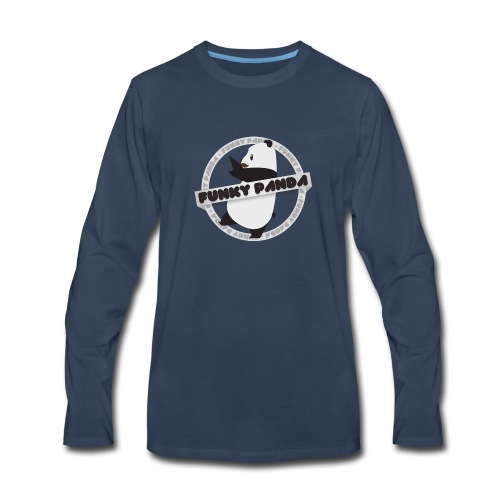 Funky Panda Logo - Men's Premium Long Sleeve T-Shirt