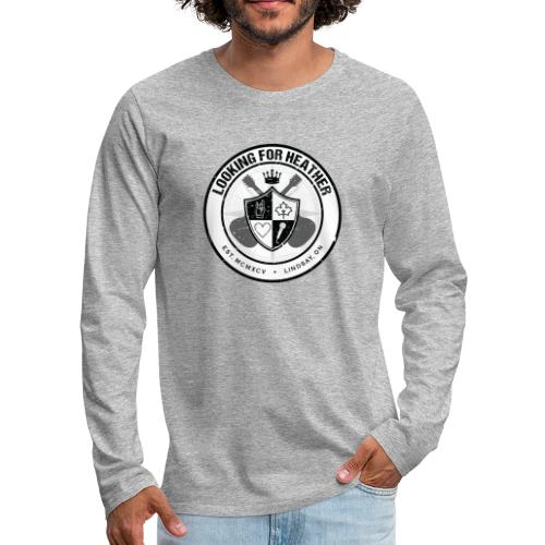 Looking For Heather - Crest Logo - Men's Premium Long Sleeve T-Shirt