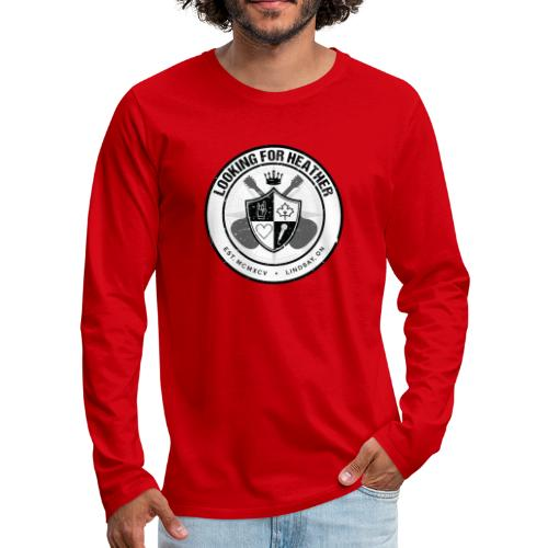 Looking For Heather - Crest Logo - Men's Premium Long Sleeve T-Shirt