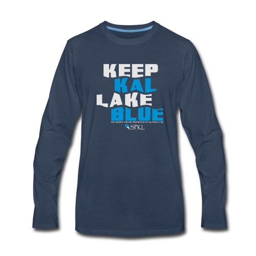 Keep Kal Lake Blue, Navy Women's Hoodie - Men's Premium Long Sleeve T-Shirt