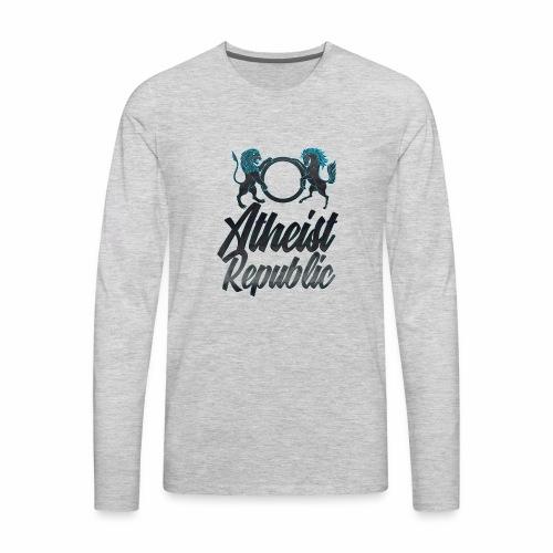 Atheist Republic Italics - Men's Premium Long Sleeve T-Shirt