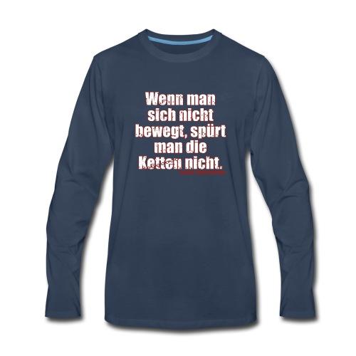 Chains Libertarian Quote Rahim Taghizadegan - Men's Premium Long Sleeve T-Shirt