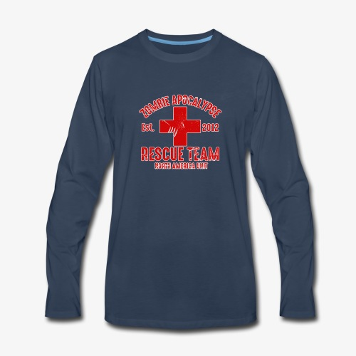 Zombie Help Team - Men's Premium Long Sleeve T-Shirt