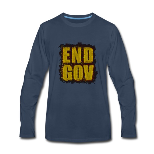 END GOV Sprinkled Design - Men's Premium Long Sleeve T-Shirt