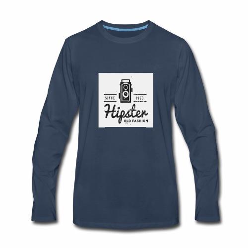 hipster4 - Men's Premium Long Sleeve T-Shirt