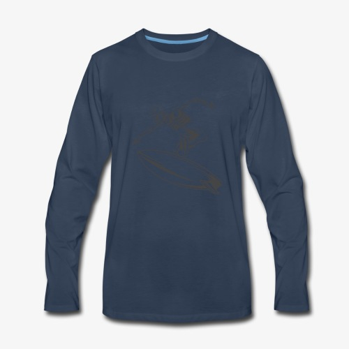 Surfing Skeleton 4 - Men's Premium Long Sleeve T-Shirt