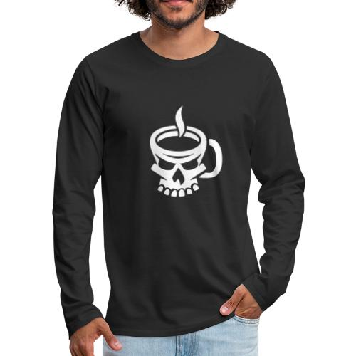 Caffeinated Coffee Skull - Men's Premium Long Sleeve T-Shirt