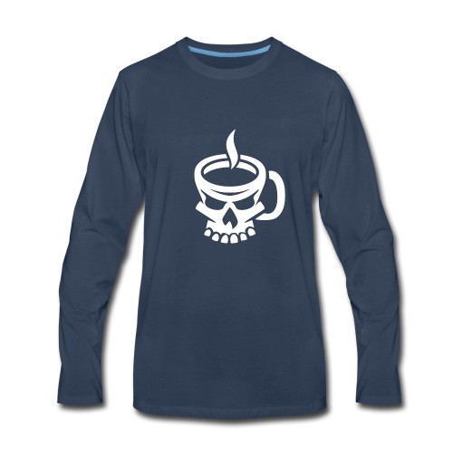 Caffeinated Coffee Skull - Men's Premium Long Sleeve T-Shirt