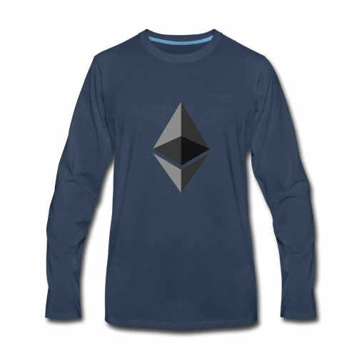 ethereum icon brand - Men's Premium Long Sleeve T-Shirt