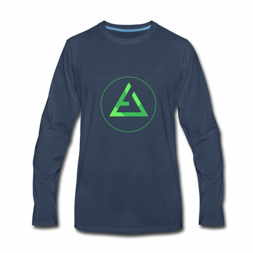 crypto logo branding - Men's Premium Long Sleeve T-Shirt