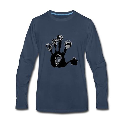 Hand of ideas - Men's Premium Long Sleeve T-Shirt