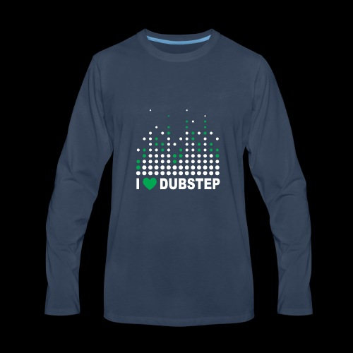 I heart dubstep - Men's Premium Long Sleeve T-Shirt