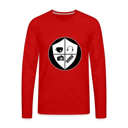 Punk Who Drinks Tea Crest (Inverted) - Men's Premium Long Sleeve T-Shirt
